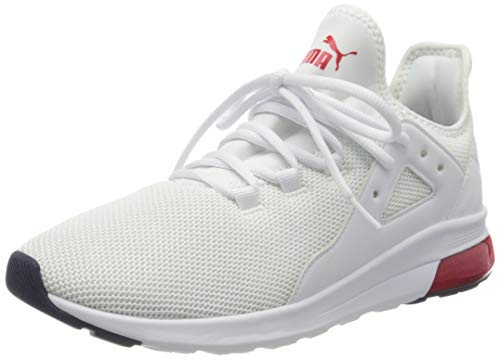 Puma Herren Electron Street Zapatillas, Weiß White-High Risk Red-Peacoat, 43 EU