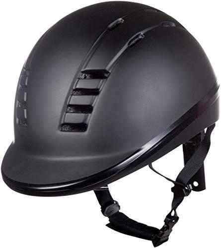 HKM Erwachsene 10473 Reithelm Eco, Helm Reiten Reitkappe Reiterkappe Reiterhelm, Unisex S-L Hose, 9100 schwarz, 53-55 cm
