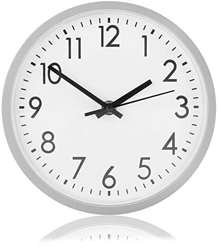 com-four® Orologio da Parete analogico con quadrante Grande - Bellissimo Orologio per Cucina, Soggiorno, Camera da Letto e...