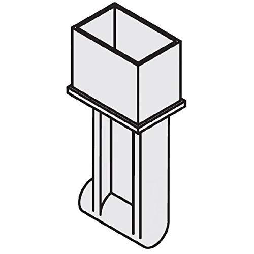 Sun Garden Endstück mit Druckfeder Ersatzteil zu Easy Sun Ampelschirm (Weiß)