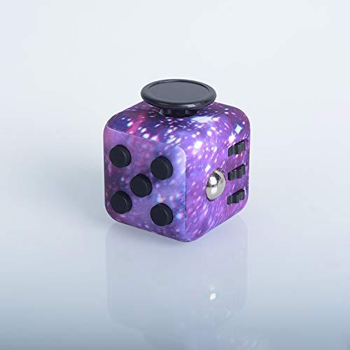 Pachock Galaxy Fidget Toy Cube Toy Con Click Ball, Anti-Ansiedad Anti-Stress Juguetes De Escritorio Para NiñOs, Adolescentes, Adultos Stress Reliever Gadgets.El Mejor Regalo (NiñO NiñA),Púrpura