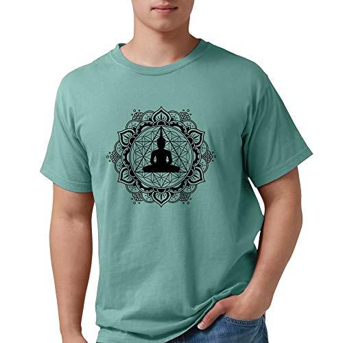 CafePress Buddha Meditating Sacred Geometry Mandala T Shirt Mens Comfort Colors Shirt