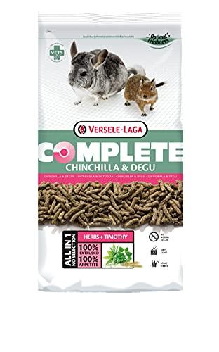 VERSELE-LAGA - Complete Chinchilla & Degu - Extrudés Tout-en-Un pour Chinchillas et Octodons - 1,75kg