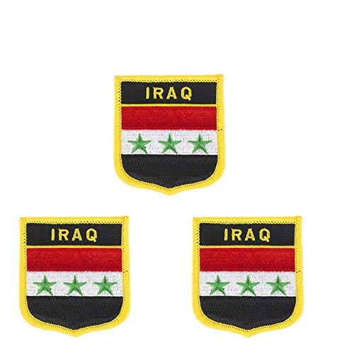 Aufnäher mit Irak-Inseln-Flagge, bestickt, zum Aufbügeln oder Aufnähen, 3 Stück