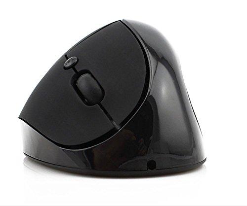 CCLOON Draadloze Verticale Muis Ergonomische Verticale Muis 2,4 GHz Optische Muis Verlicht Hand Vermoeidheid Grip Muis voor Windows XP/7/8/10 Mac, Zwart