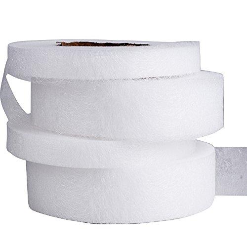 (Breite:10mm+20mm) 280 Yard 4 Rollen Aufbügelbares Saumband Bügelband Bügelsaumband Hem Tape Klebeband weiß zum Kürzen von Gardinen Vorhang für Jeans Hosen Kleidungsstück Kleidung