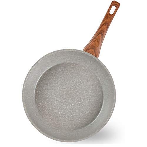 SHENGWEI Sartenes Antiadherentes 28cm Piedra Maifan de Titanio Sartén para Huevos y Tortillas para Uso en encimeras de Gas, inducción, eléctricas y cerámicas