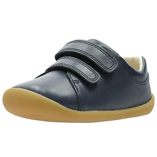 Clarks Jungen Roamer Craft T Sneaker Niedrig, Blau (Navy Leather), 20.5 EU