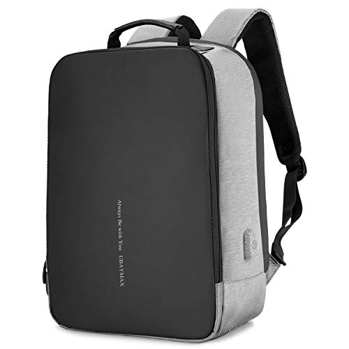 UBaymax Mochila Antirobo Hombre Mujer, Mochila Portatil 15.6 de Seguridad Impermeable para Ordenador Laptop,Mochila USB para Negocio Escolar Trabajo Viaje,Laptop Backpack Cargador