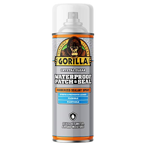 Gorilla Waterproof Patch & Seal Spray, Clear, 14 Ounces, 1 Pack