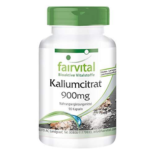 Kaliumcitrat Kapseln - HOCHDOSIERT - 300mg Kalium pro Kapsel - VEGAN - Potassium Citrate - 90 Kapseln