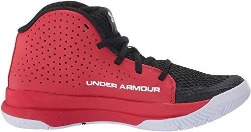 Under Armour Unisex-Kinder UA GS Jet 2019 Basketballschuhe, Rot (Red/Black/White (601) 601), 36.5 EU