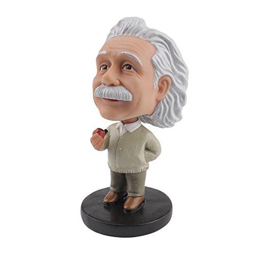 LYNDA SUTTON Albert Einstein Toy Little Einstein Bobblehead with Tobacco Pipe,Dashboard Bobbleheads/Doll Bobbleheads/Toy Collection