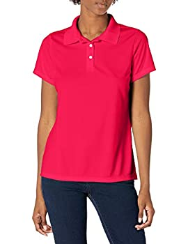 Hanes Sport Women s Cool DRI Performance Polo,Deep Red,Large