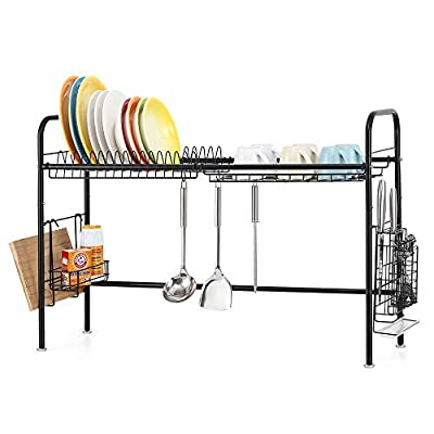 NEX 304 Stainless Steel Dish Rack Over the Sink Dish Drying Rack by