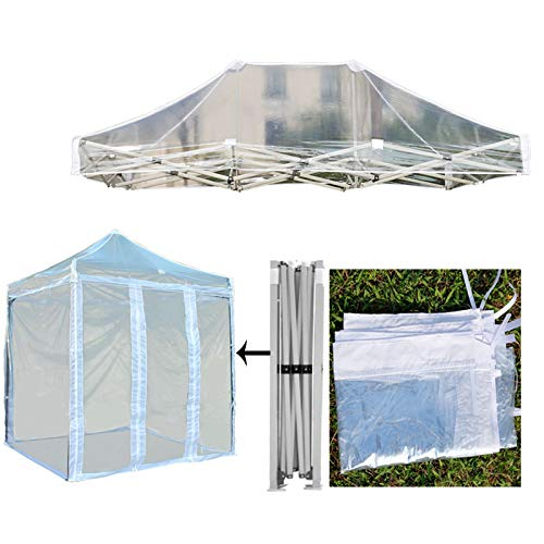GDMING Pop Up Gazebo With Sides And Metal Frame, 100% Waterproof Transparent Outdoor Tent, For Garden Camping Beach Exhibition, 6 Sizes (Color : Clear, Size : 2.5x2.5m)