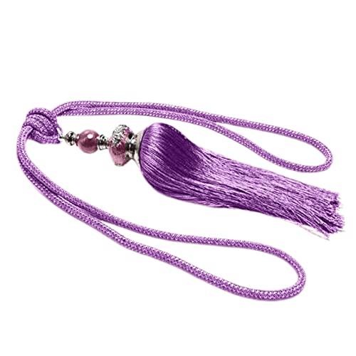 Correa de cortina 1 pieza de moda suave decorativa portátil cortina colgante bola púrpura