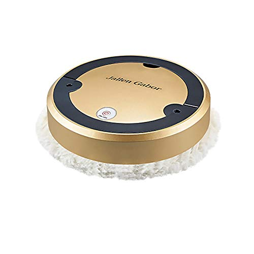 YUE APO Robot Vacuum Cleaner Sweep and Mop Cleaning, Super-Thin Robotic Vacuum Cleaner, Suction Quiet, For Pet Hair Hardwood Floor Carpet-Gold