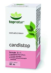 CANDISTOP - Complejo para Combatir Complicaciones por Hongo Candida. Eliminación de Infeccio de Candidiasis. Formula 100% Natural con Probióticos, Prebióticos, Extracto de Pomelo y Ajo