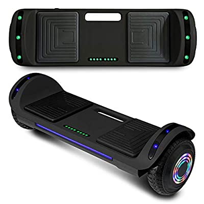CHO Spider Wheels Series Hoverboard UL2272 Certified Hover Board Electric Scooter with Built in Speaker Smart Self Balancing Wheels (Flat Solid Black)