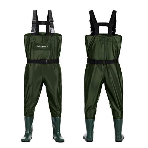Magreel Vadeadores de Pesca con Botas Impermeables para Niños Waders Transpirables Ropa Pantalones de Nylon/PVC para Pescador Edad 2-13 Años