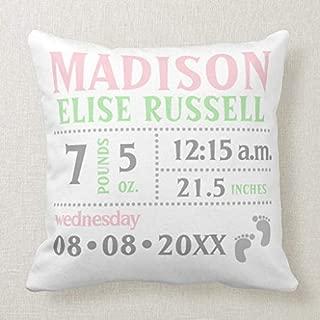 Best custom birth announcement pillow Reviews