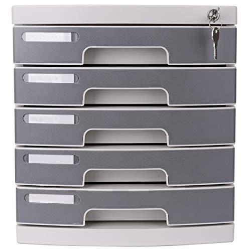 Ablageschränke 5. Stock Kunststoff Desktop Sicherheitsschrank Dokumentenschrank Aufbewahrungsbox Desktop Aktenschrank Bürobedarf