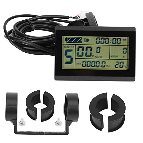 Redxiao Elektrisches Fahrrad-LCD-Instrument, langlebig und praktisch 24V-36V-48V mit USB-Schnittstelle E-Bike-Umrüstzubehör für den Radsport-S-M-Anschluss