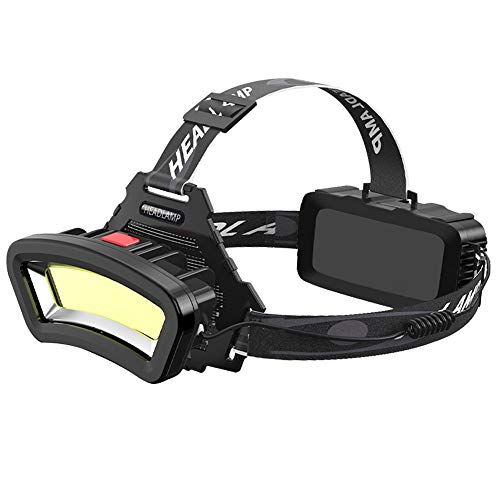 Gran Apertura Linterna Frontal Recargable, Linterna LED, Muy Adecuada para Correr, Hacer Senderismo, Ligera, Impermeable, Diadema Ajustable