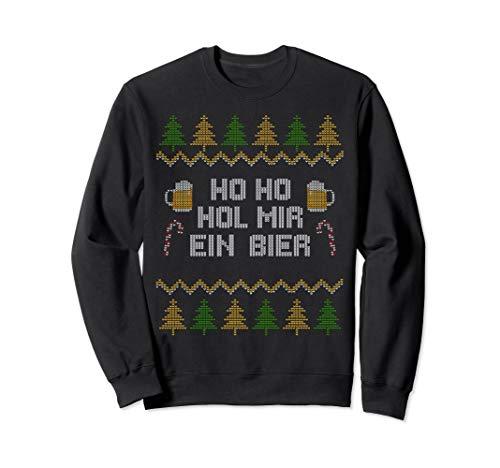Ho Ho Hol Mir Ein Bier Lustiges Ugly Christmas Weihnachts Sweatshirt