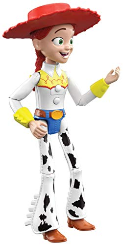 Mattel Pixar Interactables Jessie Talking Action Figure, 8.8-in Tall Highly Posable Movie Character Toy, Interacts with Other Figures, Kids Gift Ages 3 Years & Up