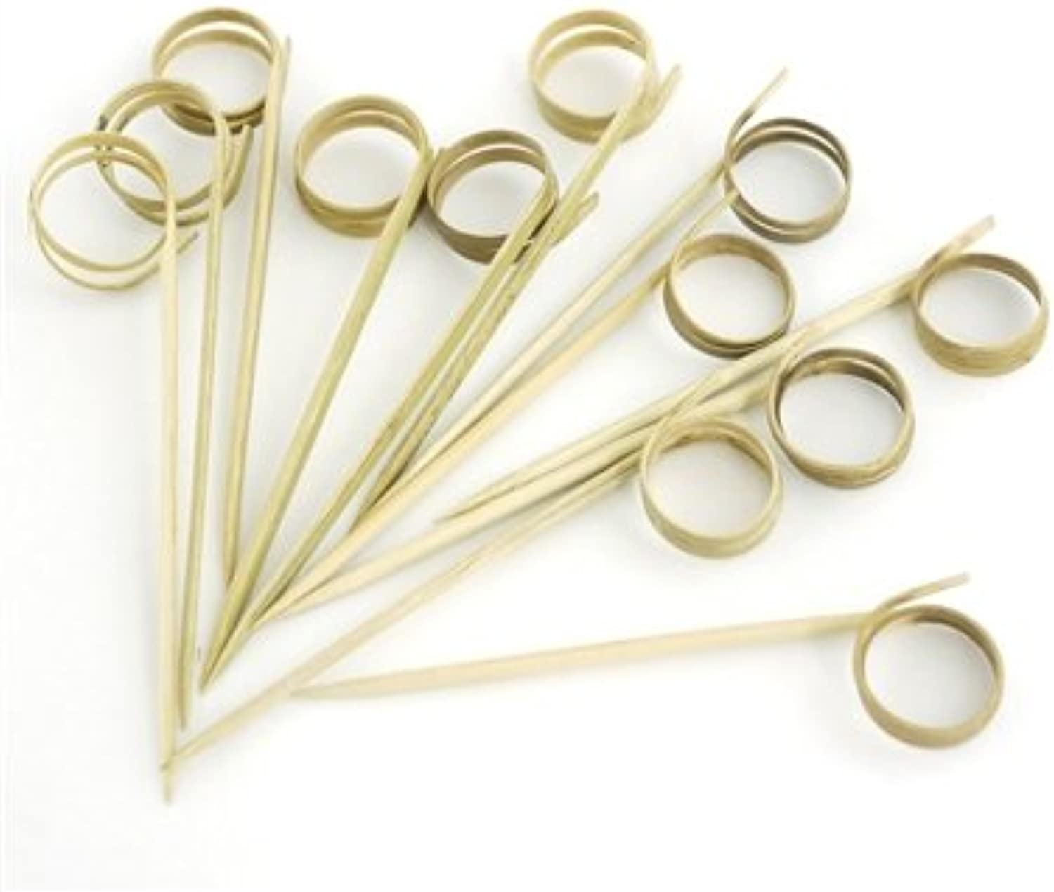 BambooMN 3.5  Decorative Loop Ring Card Holder Cocktail Fruit Sandwich Picks Skewers for Catered Events, Holiday's, Restaurants or Buffets Party Supplies, 1000 Pieces