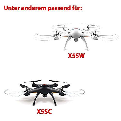 3x 1200mAh 3.7V Power original Upgrade-Akku SET für Syma X5SC, X5SW Quadcopter inkl. 5in1 Mehrfachladekabel und Netzteil