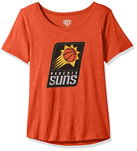 OTS NBA Phoenix Suns Women's Slub Scoop Tee, Distressed Logo, Medium