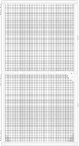 1PLUS Insektenschutz Alu Rahmen System Basis für Türen in Verschiedenen Größen und Farben (100 x 215cm, Weiß)