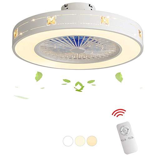 Hami Ventilador Ventilador de Techo Luz LED Velocidad del Viento Ajustable, Regulable con Control Remoto Lámpara de Techo Moderna para Dormitorio Sala de Estar Comedor ático Ventilador de Techo con