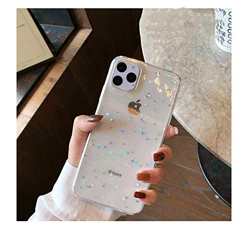 WGOUT Star Glitter Phone Case für iPhone 11 Pro Max Rücken Love Heart TPU Cover für Iphone12 Pro Xsmax Xr 7 6 8 Plus Mini, Clearstar, für iPhone SE 2020