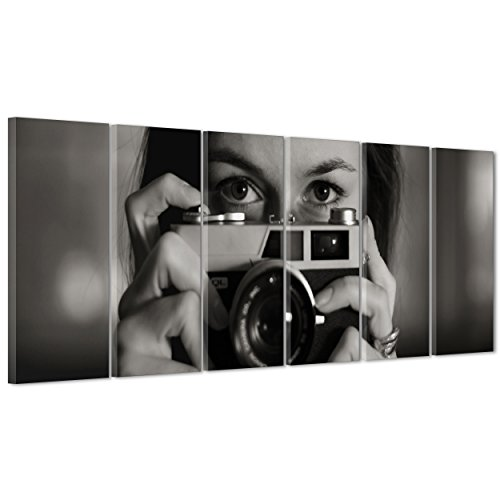 ConKrea foto op canvas, ingebed - klaar om op te hangen - fotografie - Leica camera - zelfportret