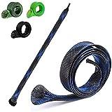 KRAKEN FISHING - Funda de caña de pescar [juego de 4] accesorio para la protección y el almacenamiento de sus cañas de pescar, antigolpes, resistente y práctico, es el protector de sus equipos.