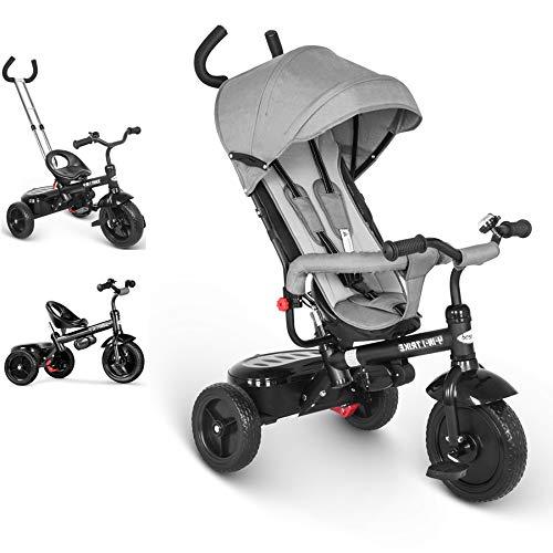 besrey Triciclo evolutivo 4 en 1 triciclos bebé Trike Bicicleta para Bebe...