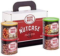 product image for BEER NUTS 4-Pack Nutcase Cans Gift-Set - Includes (2) Original Peanuts, 1 Original Bar Mix, 1 Cantina Mix in Gift Box