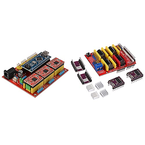 LUOSHEN CNC Shield V4 Expansion Board 3.0 Stepper with Cnc Shield + 4 x Drv8825 Driver Kit for 3D Printer