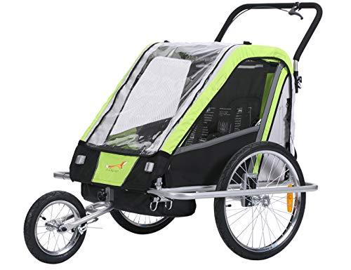Fixi Master Multifunktion 2en 1Remorque de vélo/jogger Baby Chariot Vert BT503neuf