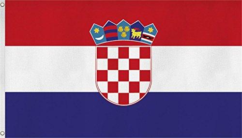 normani Fahne mit Messingösen 90 x 150, 150 x 250 oder 300 x 500 cm wählbar Farbe Kroatien Größe 90 x 150