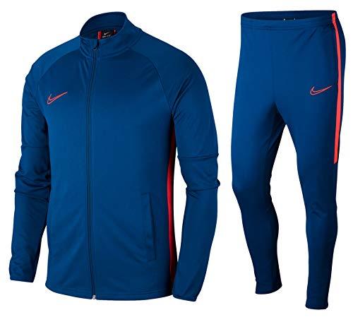 Nike M Nk Dry Acdmy TRK Suit K2 Warm Up, Uomo, Uomo, AO0053, Blu ceruleo/Cremisi (Valerian Blue/Laser Crimson), L