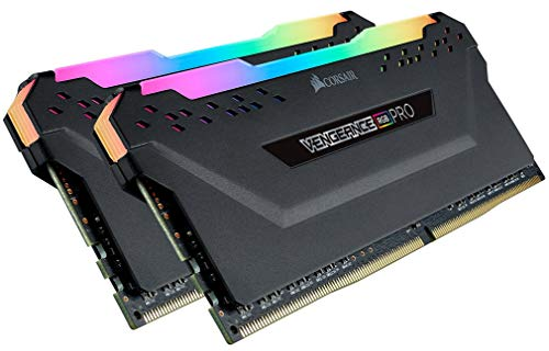Corsair Vengeance RGB PRO 32GB (2x16GB) DDR4 2933MHz C16 XMP 2.0 Enthusiast RGB LED-Beleuchtung Speicherkit - schwarz