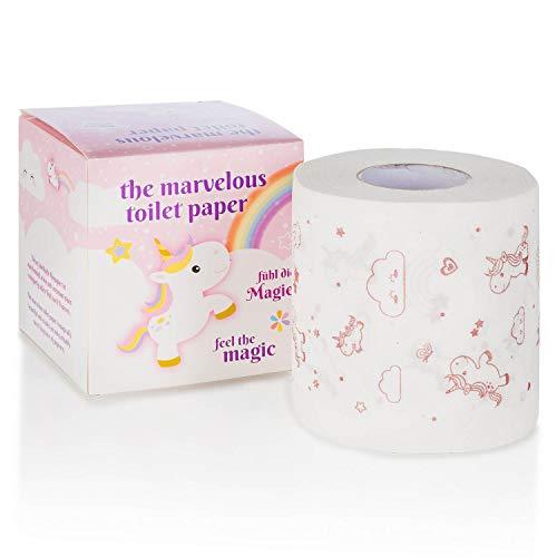 GOODS+GADGETS Einhorn Toilettenpapier - niedliches Klopapier mit Popcorn Duft-Aroma (Einhorn)