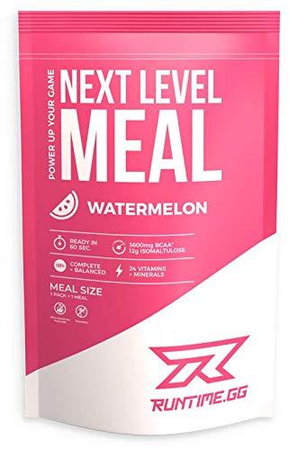Runtime Meal - Watermelon | Vollwertiger Mahlzeitersatz, lange Sättigung & Leistungsfähigkeit | 24 Vitamine & Mineralien | 1 Portion - 150g
