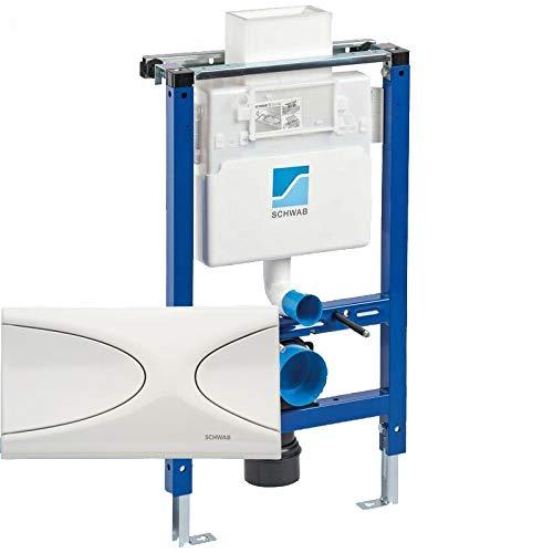 SCHWAB WC Element Spülkasten DUPLO XS + Betätigung TARGA Vorwandelement Unterputz 82cm
