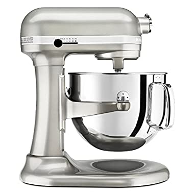 KitchenAid Professional 600 Series KP26M1XER Bowl-Lift Stand Mixer, 6 Quart, Sugar Pearl Silver